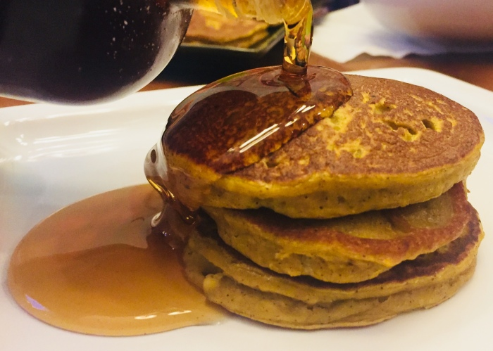 healthy no sugar added pumpkin pancakes for kids family
